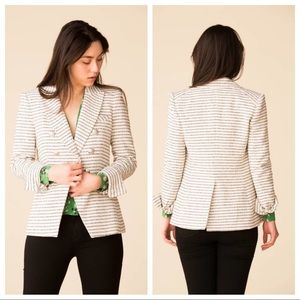 Veronica Beard Miller Dickey Striped Tweed Jacket